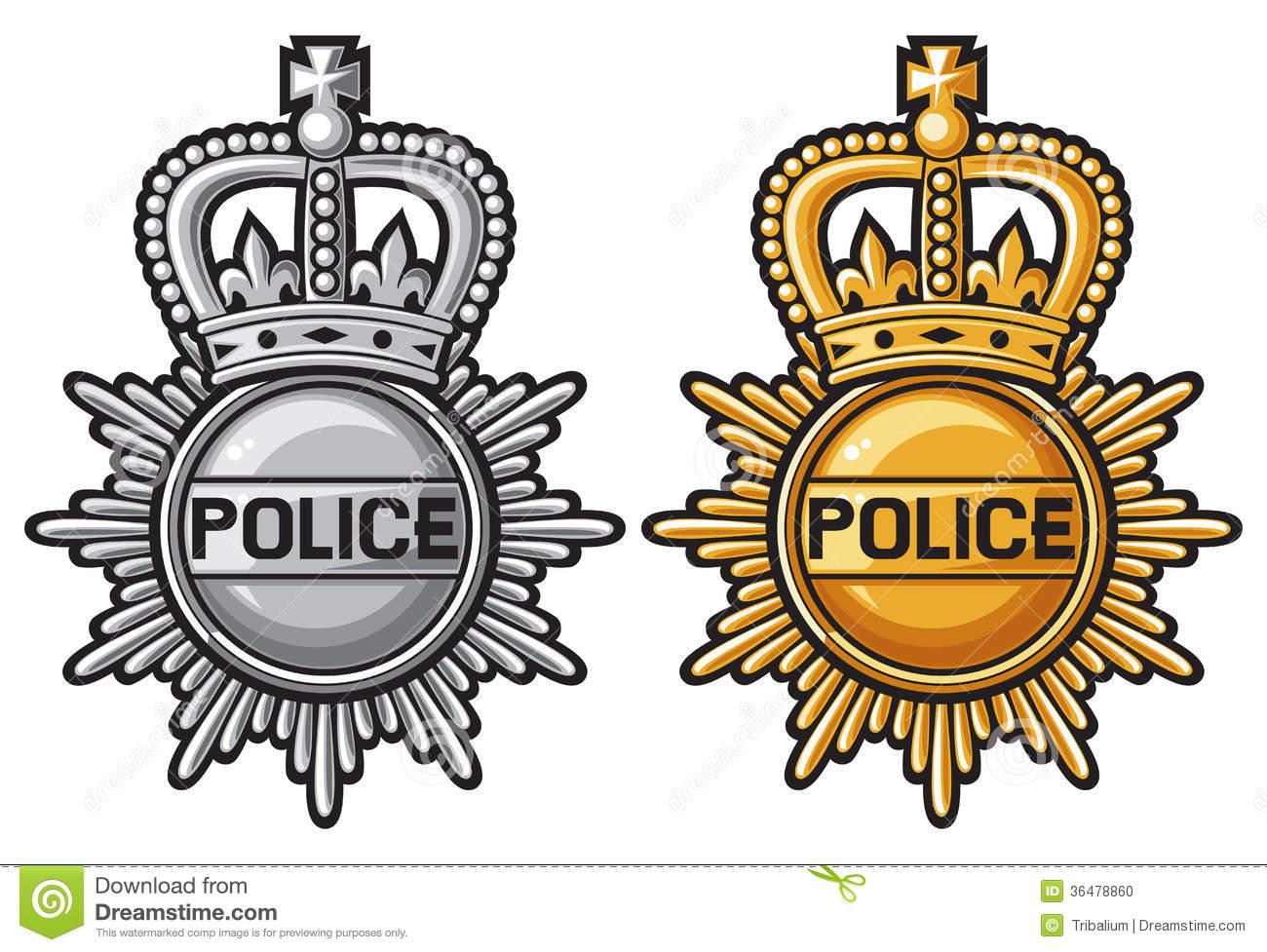 British Police Badge Clipart.