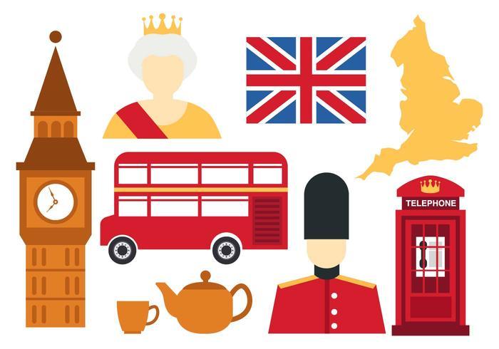 England Icons Vector.