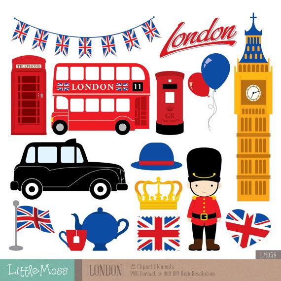 London Clipart, British Clipart, England Clipart.