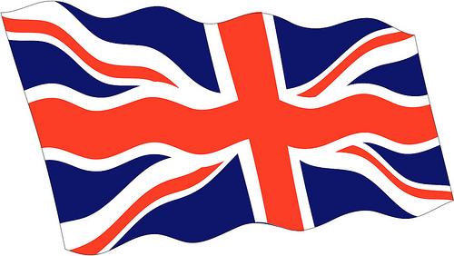 England Flag Vector.