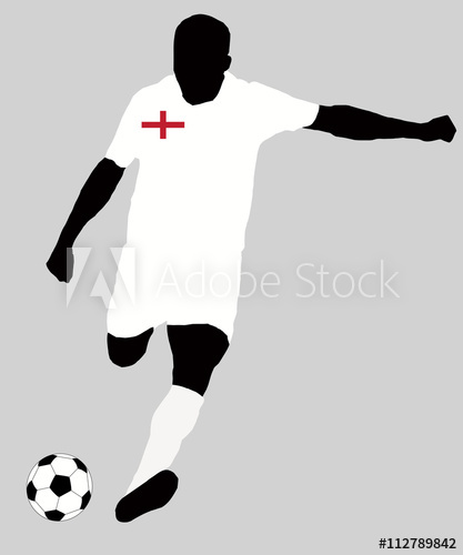 UEFA Euro 2016 vector illustration of football player run.