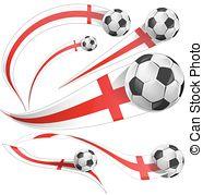 Soccer football ball with england flag. 3d soccer ball with.