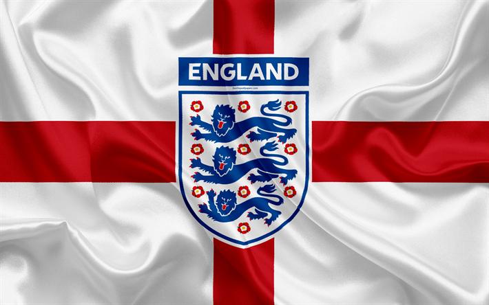 Download wallpapers England national football team, emblem.