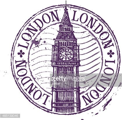 London vector logo design template. Shabby stamp or England.