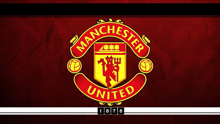 HD wallpaper: Manchester United logo, soccer clubs, England.