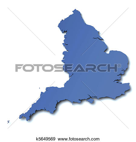 Stock Illustration of Map of England.