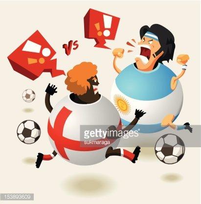 England Vs Argentina Soccer Always Hot premium clipart.