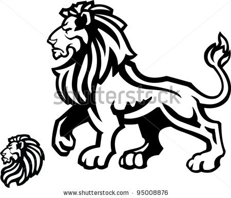 Monarch lion clipart.
