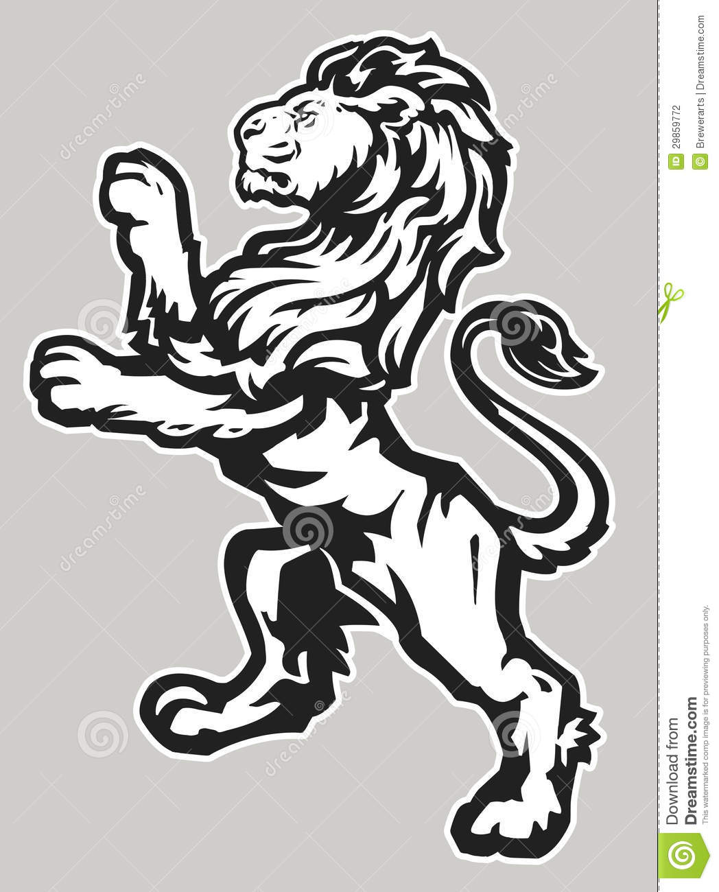 Clipart free rampant lion silhouette.