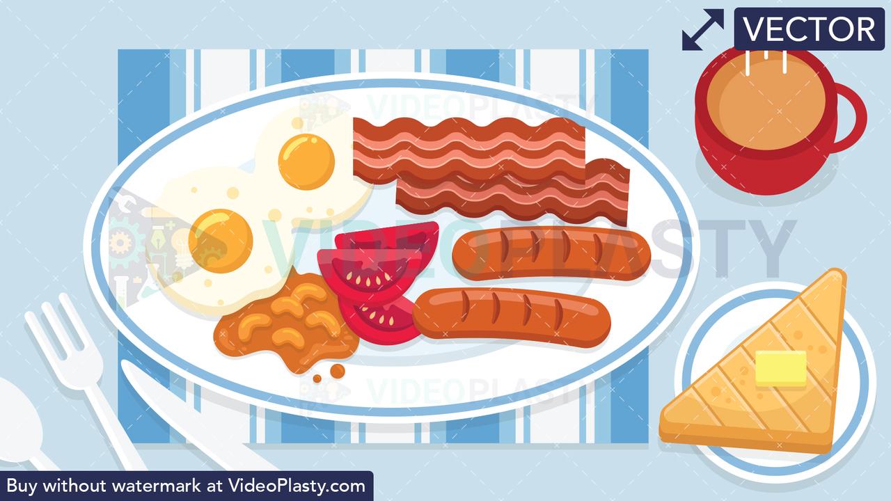 English Breakfast Scene.