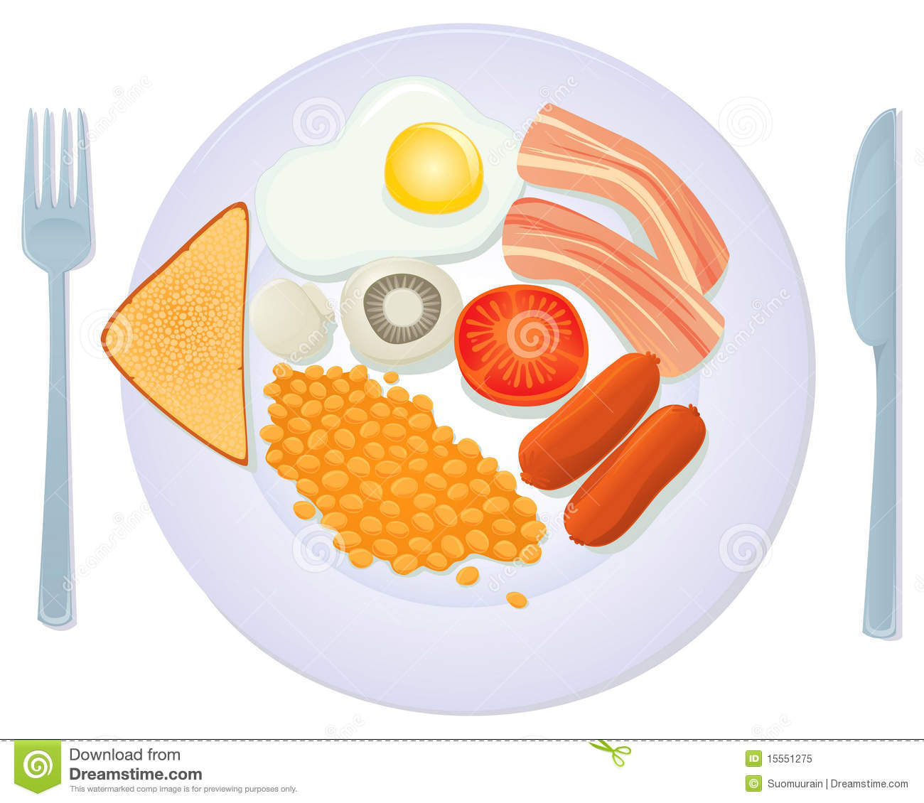 English breakfast clipart 1 » Clipart Station.