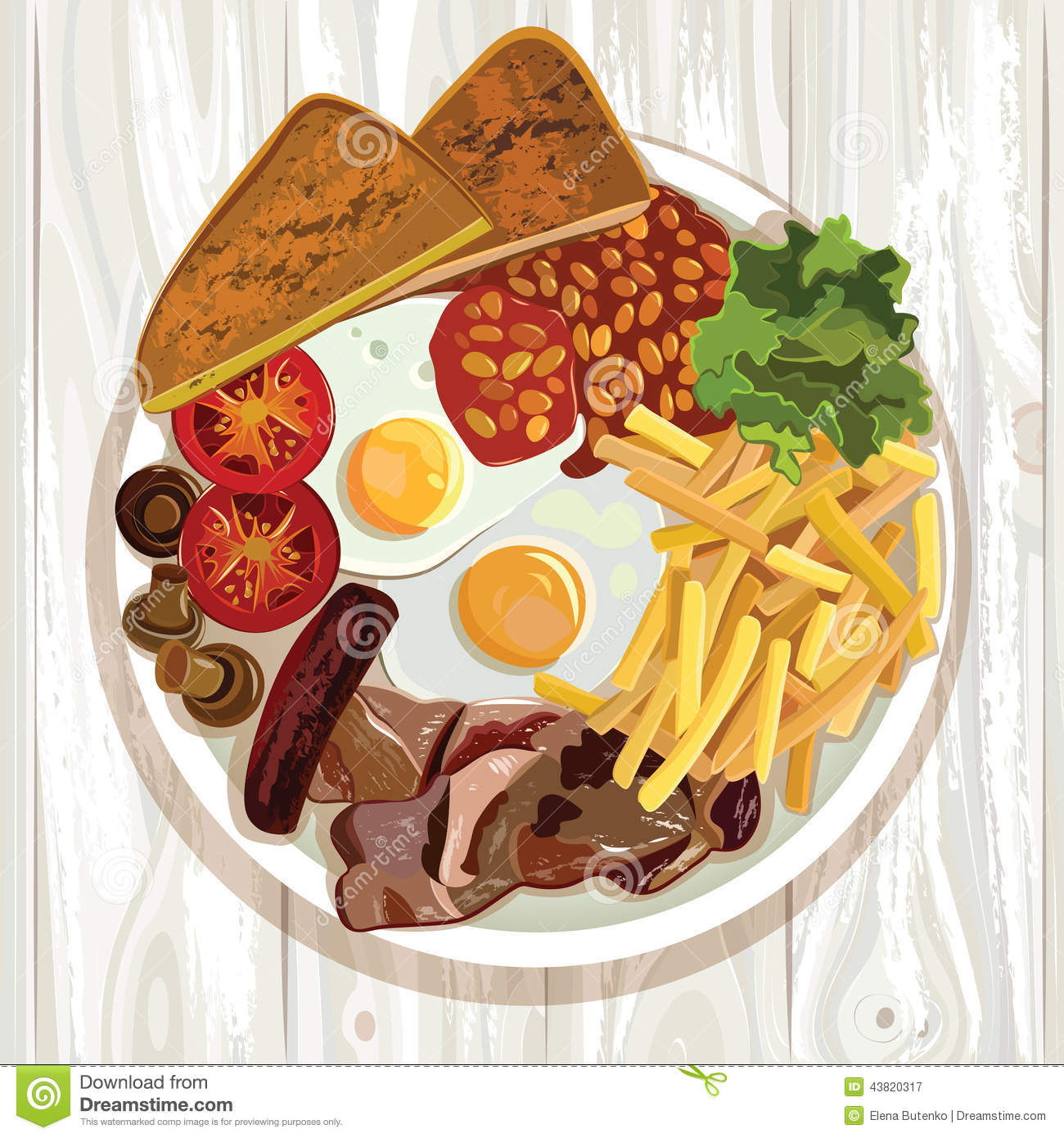 English breakfast clipart 8 » Clipart Station.