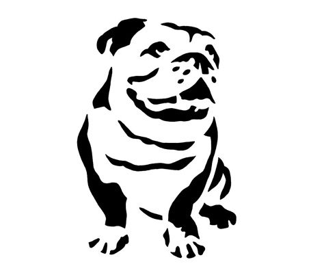 English bulldog face clipart.