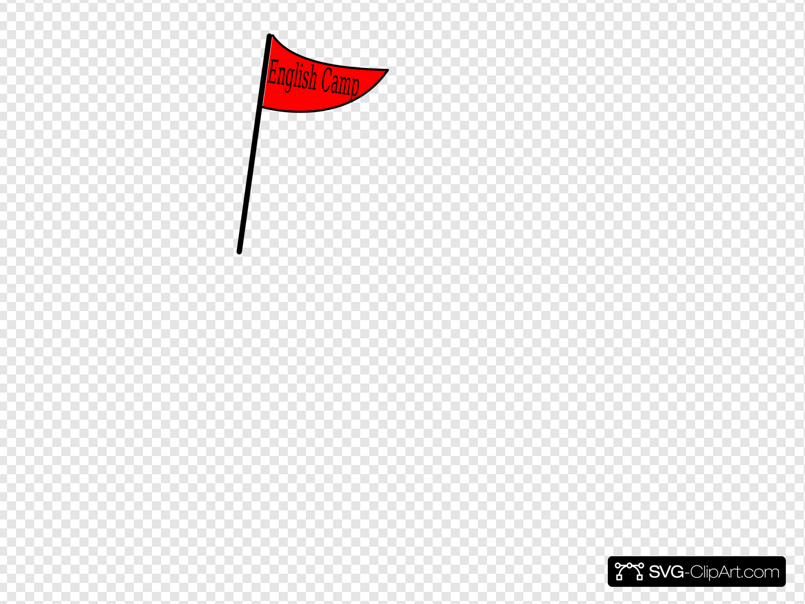 Red Flag English Camp Clip art, Icon and SVG.