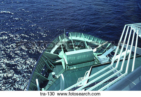 Stock Photography of View of the Bow of a Ship in the English.