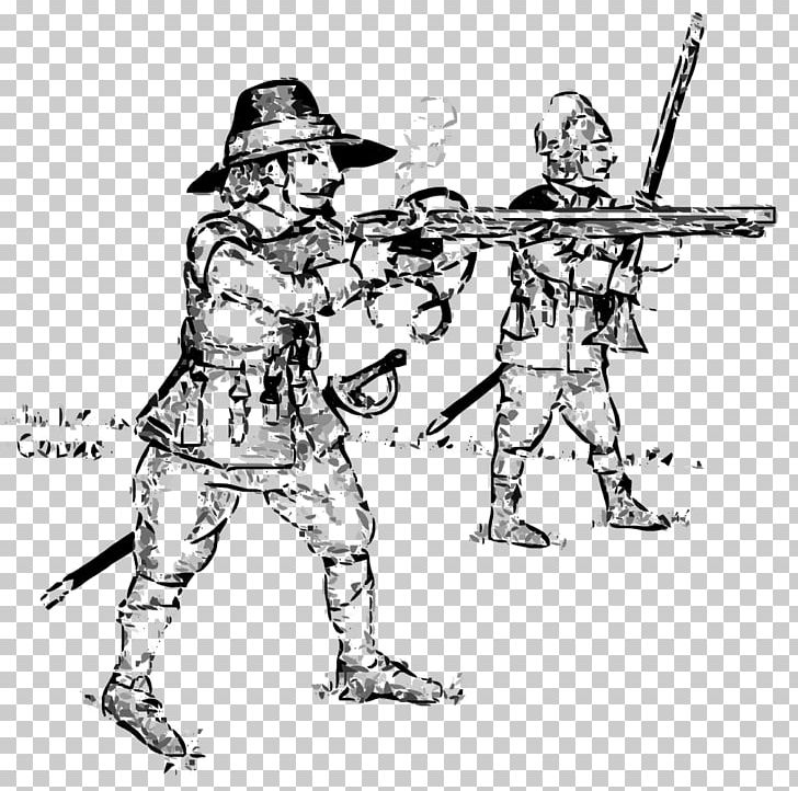 Drawing Cartoon English Civil War Soldier England PNG.