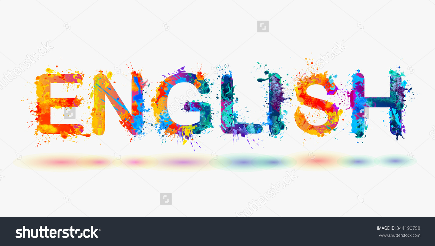 English Word Clipart.