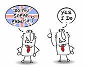 Speak English Clip Art.