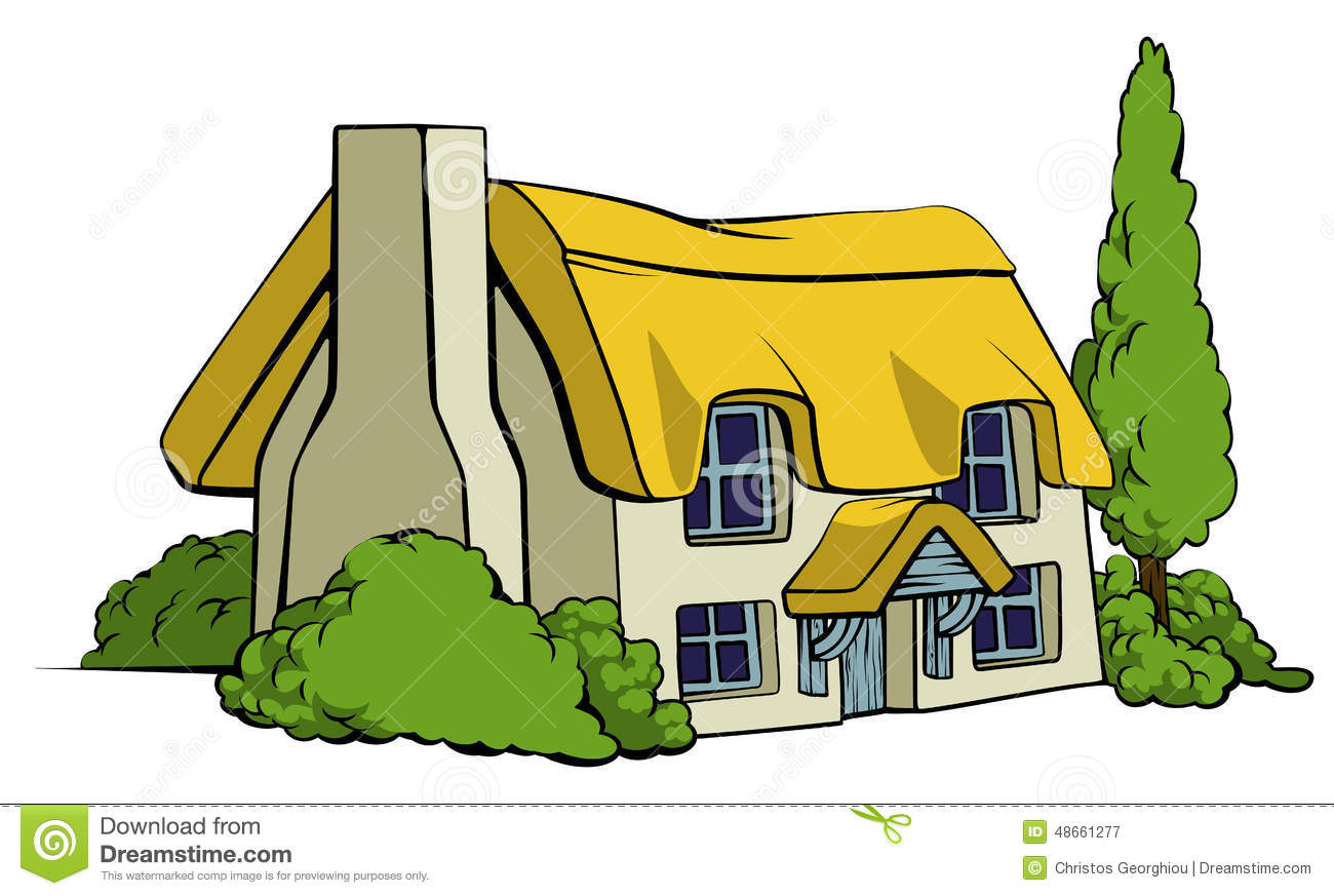 Country cottage style clipart.