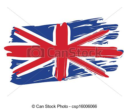 Clip Art Vector of Painted British Flag.