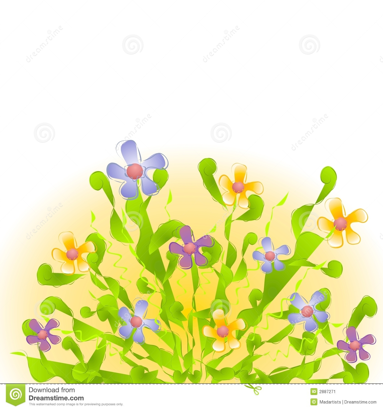 English garden flower clipart.
