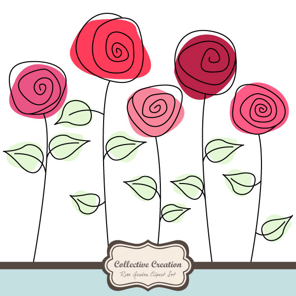 Cute rose clipart.