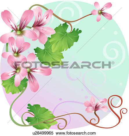 Geranium Clip Art and Illustration. 229 geranium clipart vector.