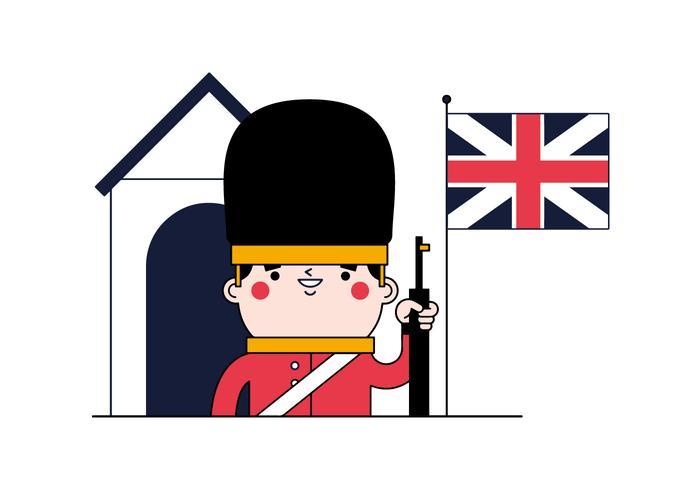 English Guard Vector.