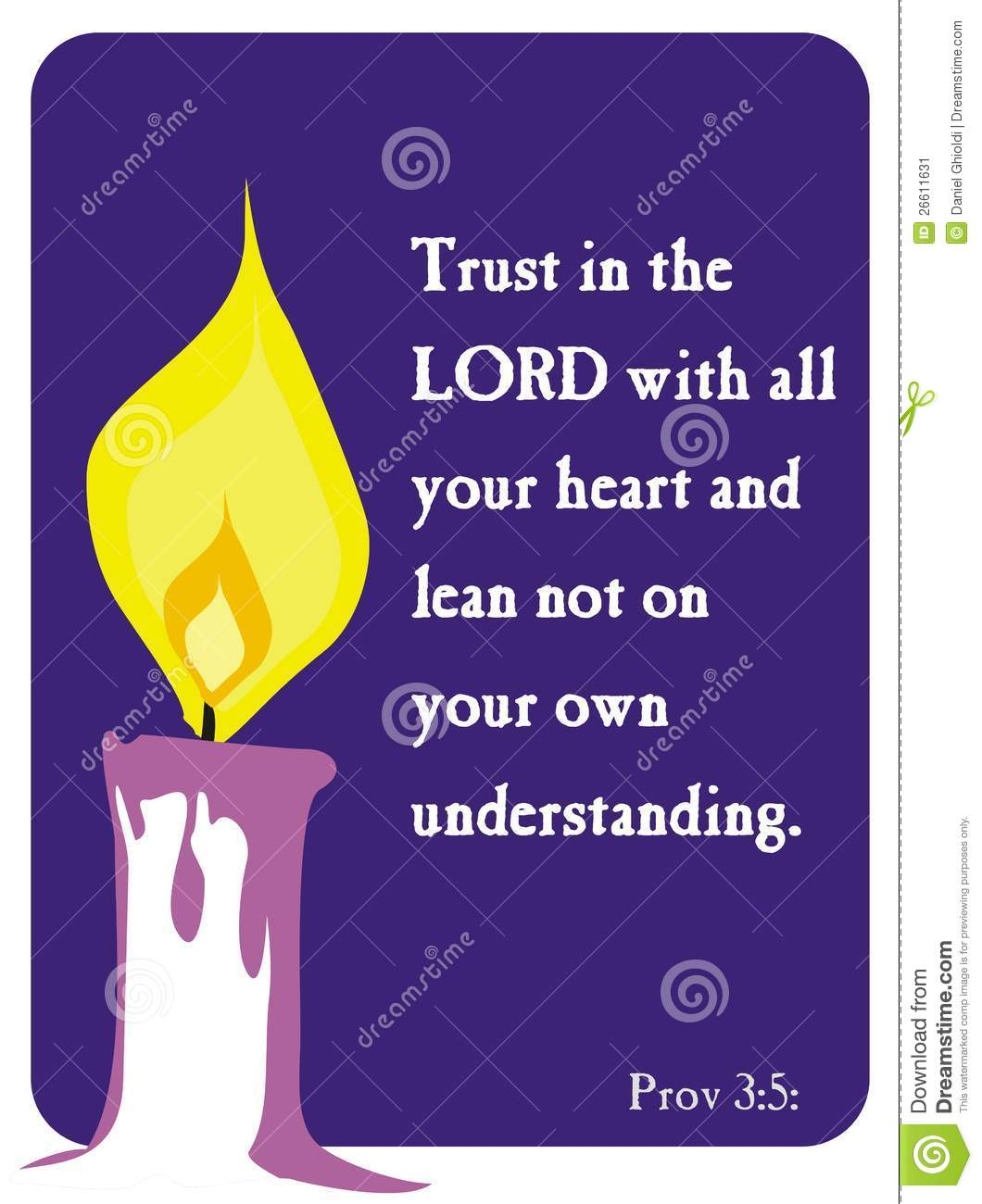 Bible words in english clipart.