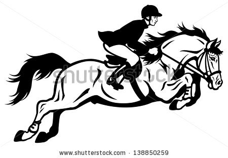 Horse Jumping Stock Images, Royalty.