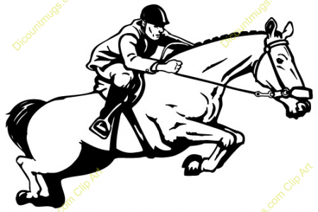 Horse Trail, Silhouette ClipArt ETC, Horseback Riding Trail Ride.