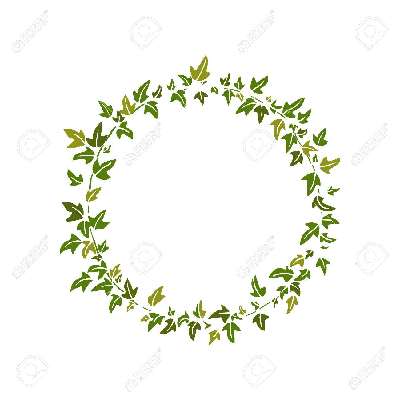 English ivy wreath » Clipart Station.