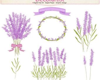 Lavender flower clip.