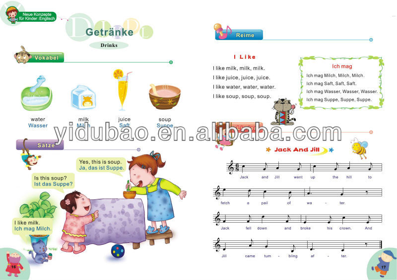 English Learning Book For Kids,Educational Book For Kindergarden.