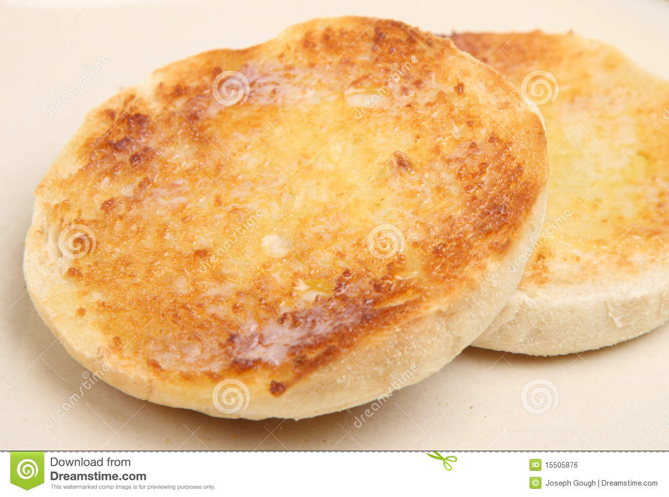 Toasted English Muffin Stock Photography.