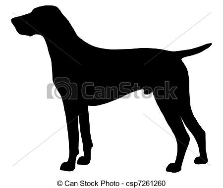 Pointer dog clipart.