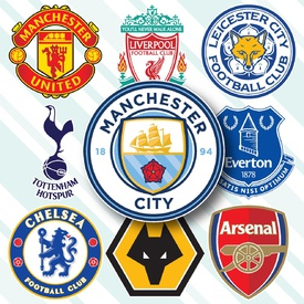 SOCCER: English Premier League crests 2019.
