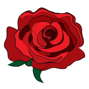 Rosa red clipart #16