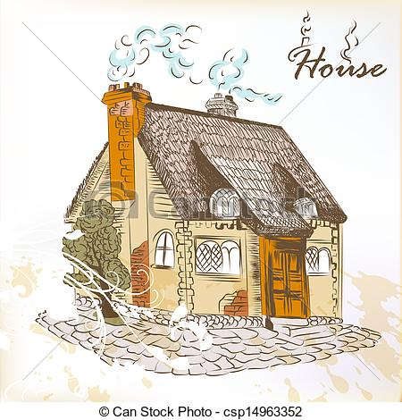 English house Clipart and Stock Illustrations. 932 English house.