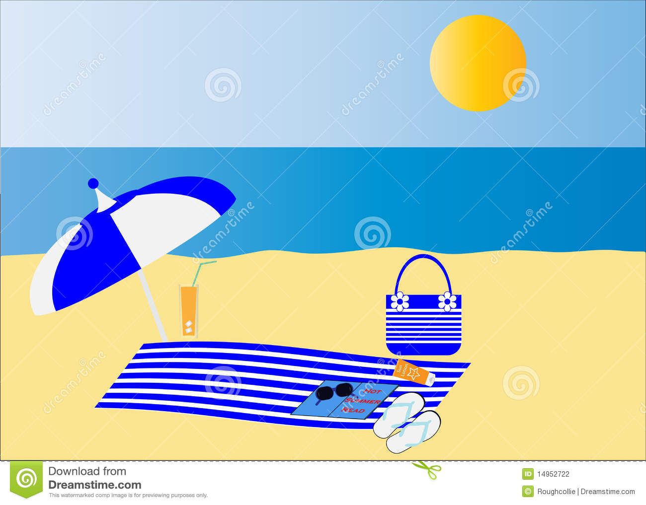 Beautiful Beach / Seaside Accessories Stock Photography.