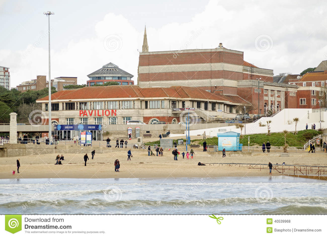 Pavilion Theatre, Bournemouth Seaside Resort Editorial Stock Photo.