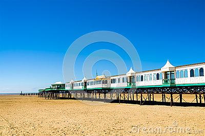 Victorian Era Pier At English Seaside Resort Stock Images.