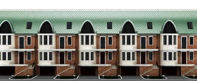 English Street Terraced Houses Stock Illustrations.