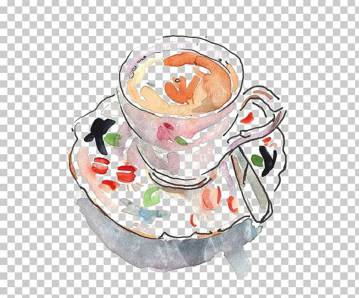 Black Tea Cappuccino Coffee Cup Teacup PNG, Clipart, Afternoon Tea.