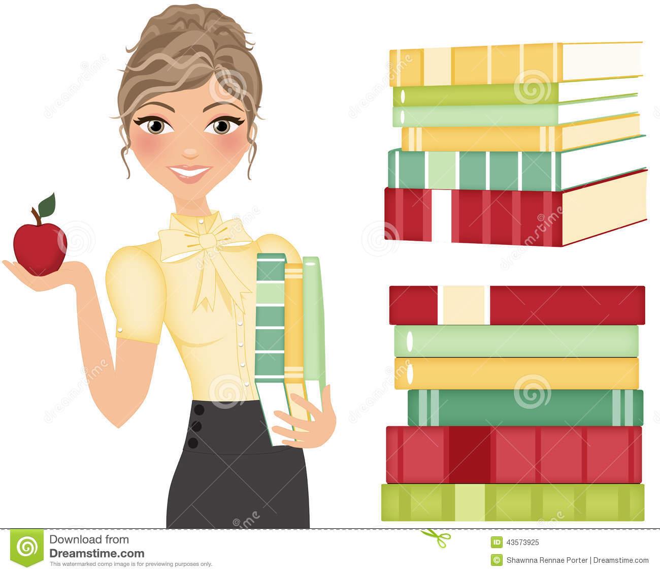 English Teacher Clipart Female.