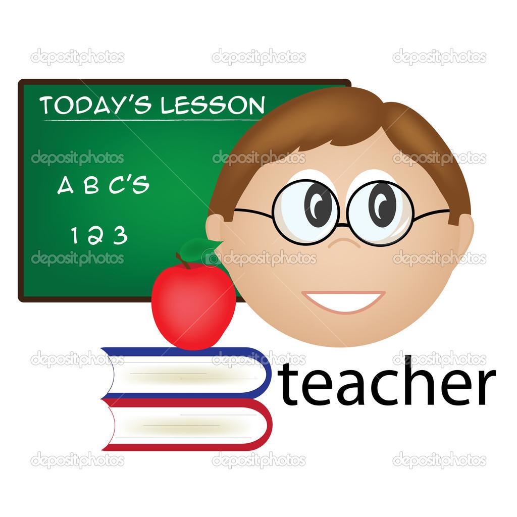 Male English Teacher Clipart.