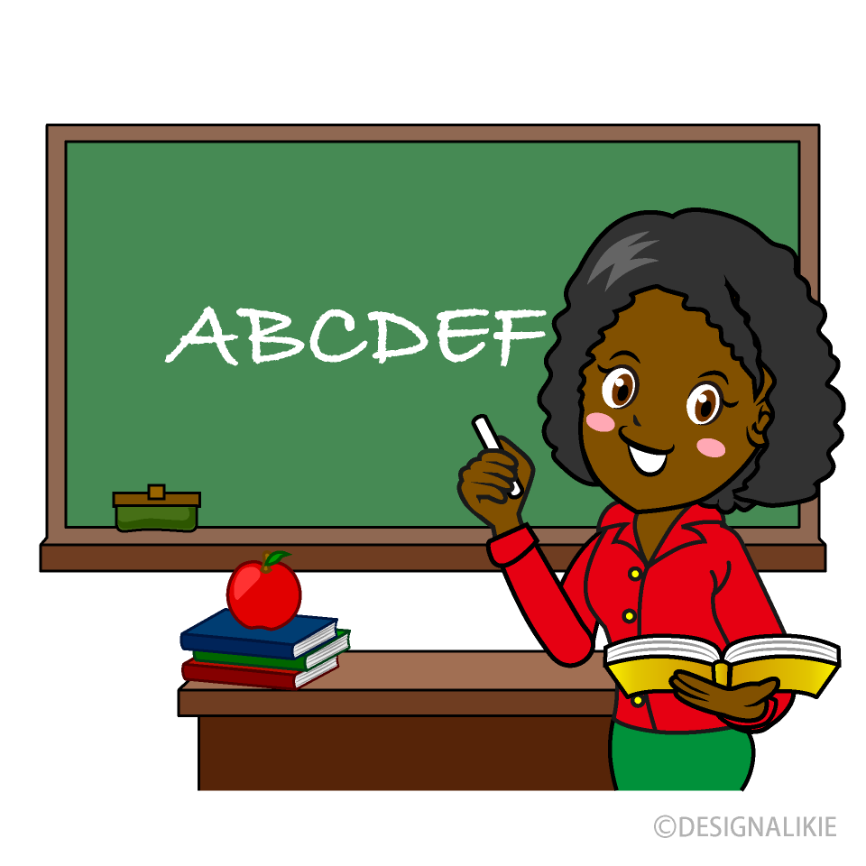 Free Teacher Teaching English Clipart Image|Illustoon.