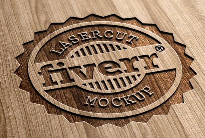 make your 2D Logo look like 3D Engraved Wood.
