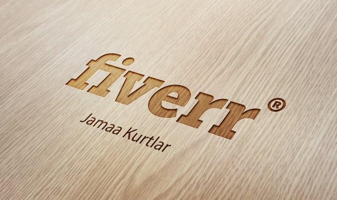 jamaakurtlar : I will make your logo engraved wood MockUp for $5 on  www.fiverr.com.