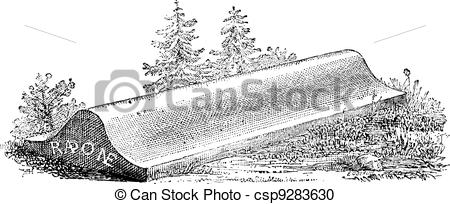Vector Clipart of Tombstone, lid of a sarcophagus from.
